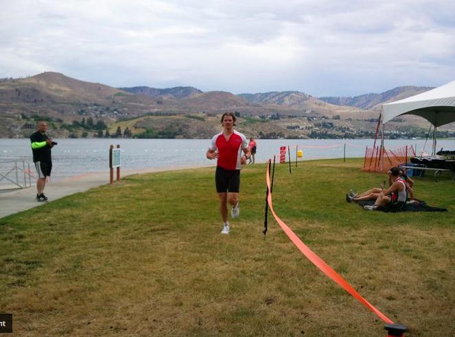 Joe The Ironman doing the Chelanman Triathlon