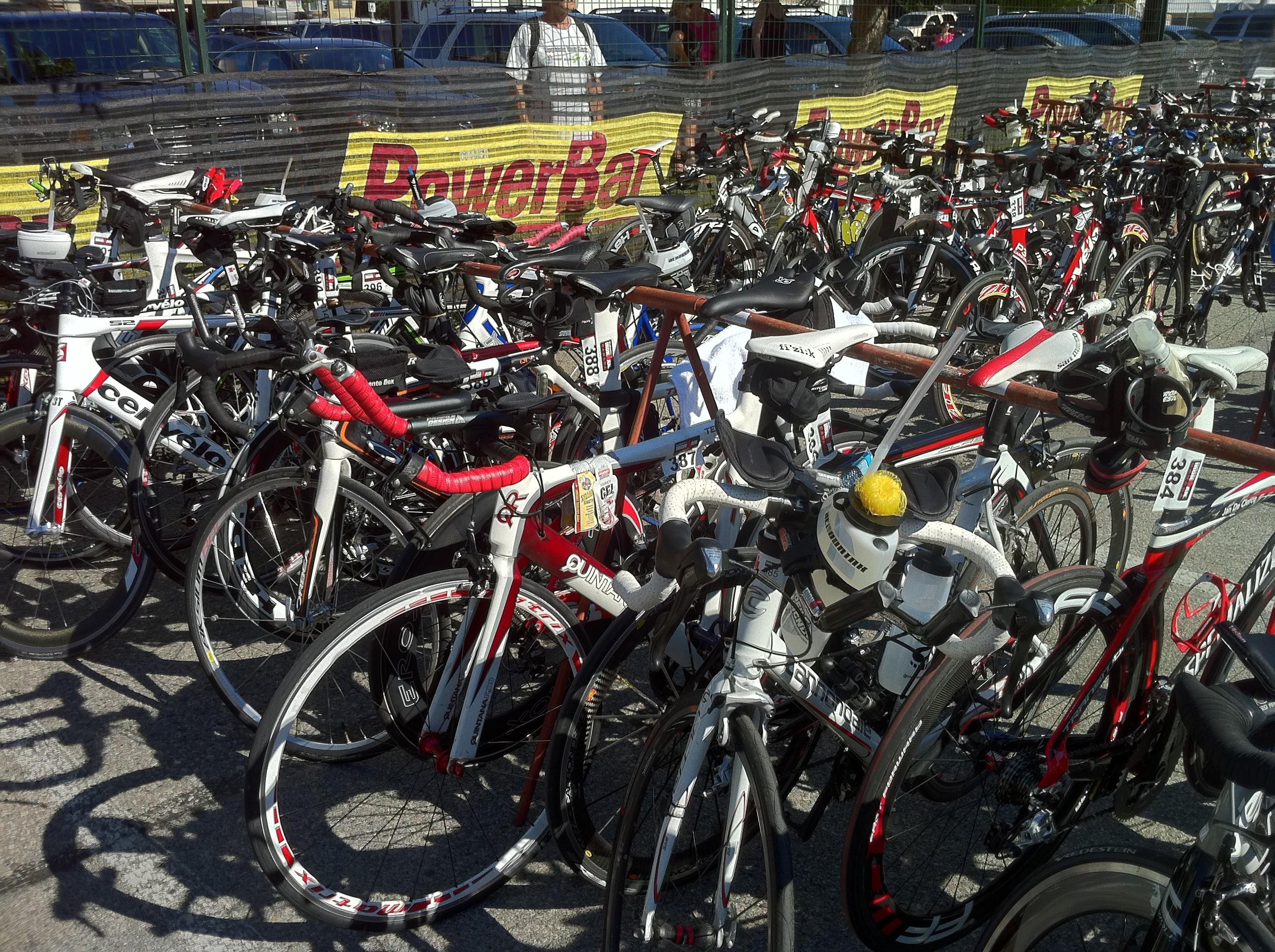 Ironman Canada Bike Transition Area