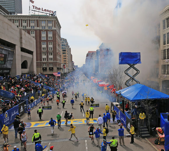 Less than 60 mins from the Boston Marathon bombing…