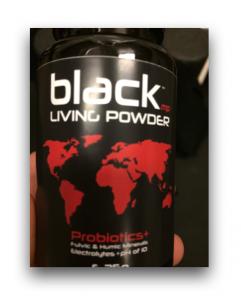 bottle of blackmp living powder