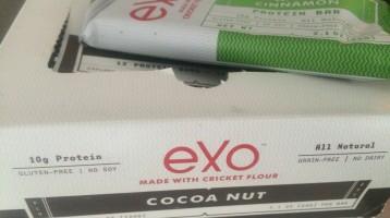 EXO cricket protein bars