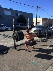 Heavy back squat