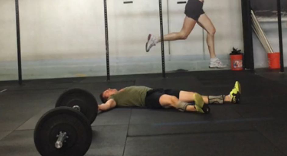 CrossFit open thruster workout