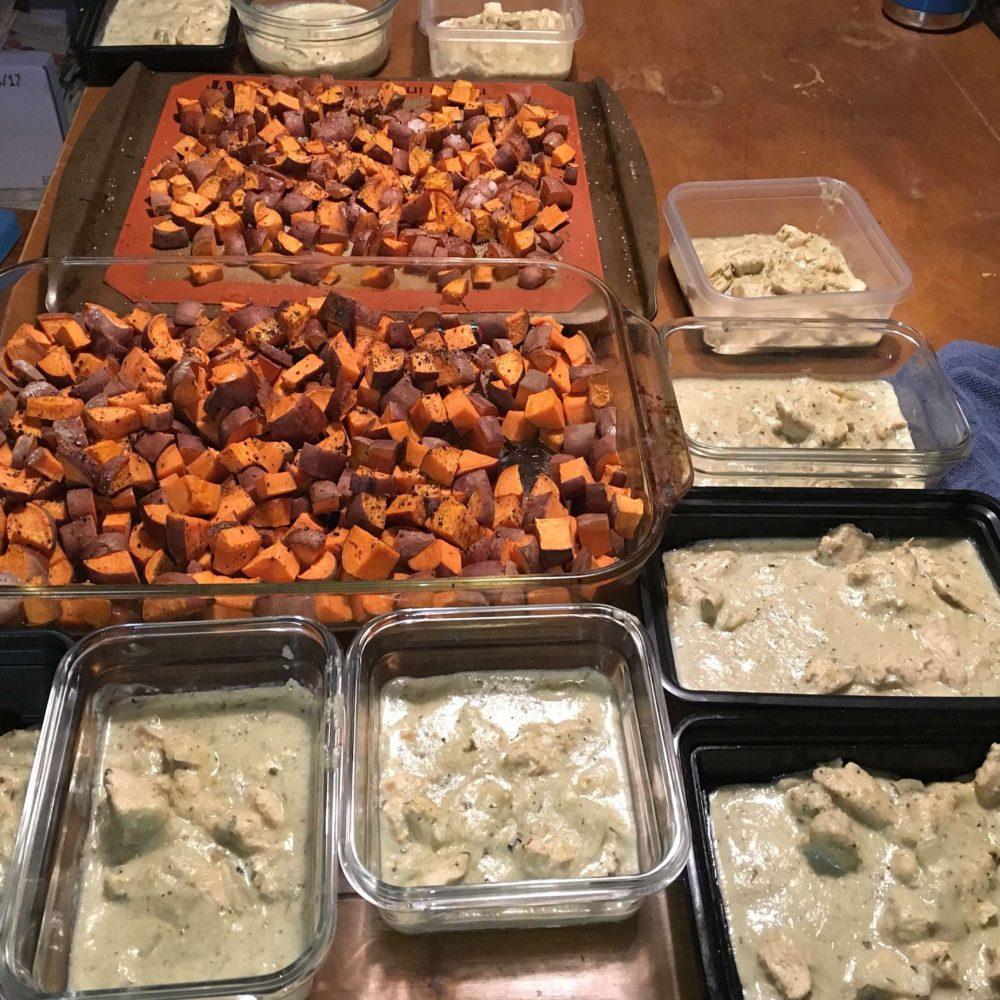 Meal Prep – Buffalo Chicken Sweet Potato & Salsa Verde Chicken