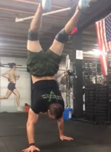 Joe Bauer (All Around Joe) handstand walking at StoneWay CrossFit