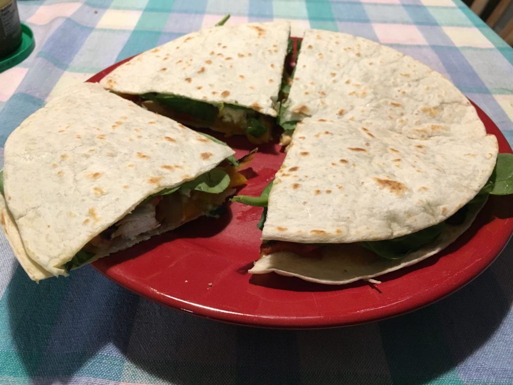Delicious chicken quesadillas