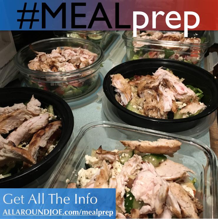 Meal Prep – Loaded Greek Salad / Alfredo Chicken & Broccoli