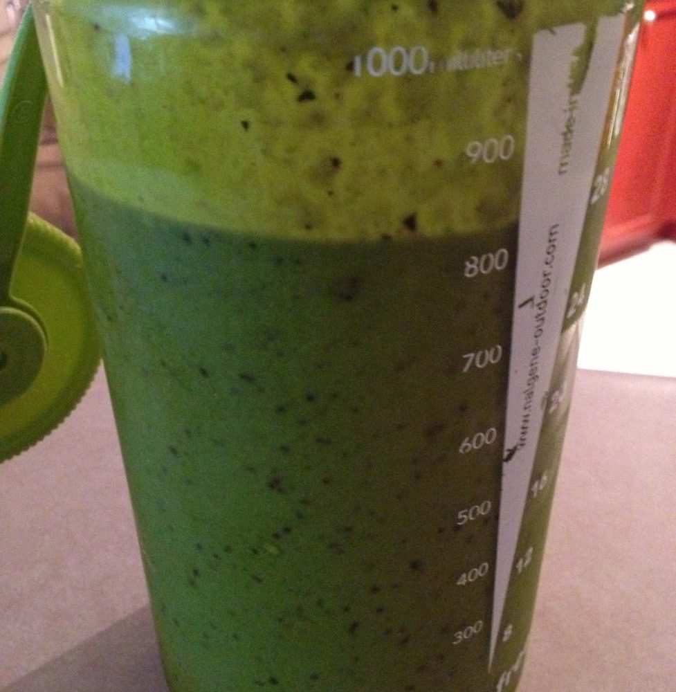 My mean green shake that I have every morning