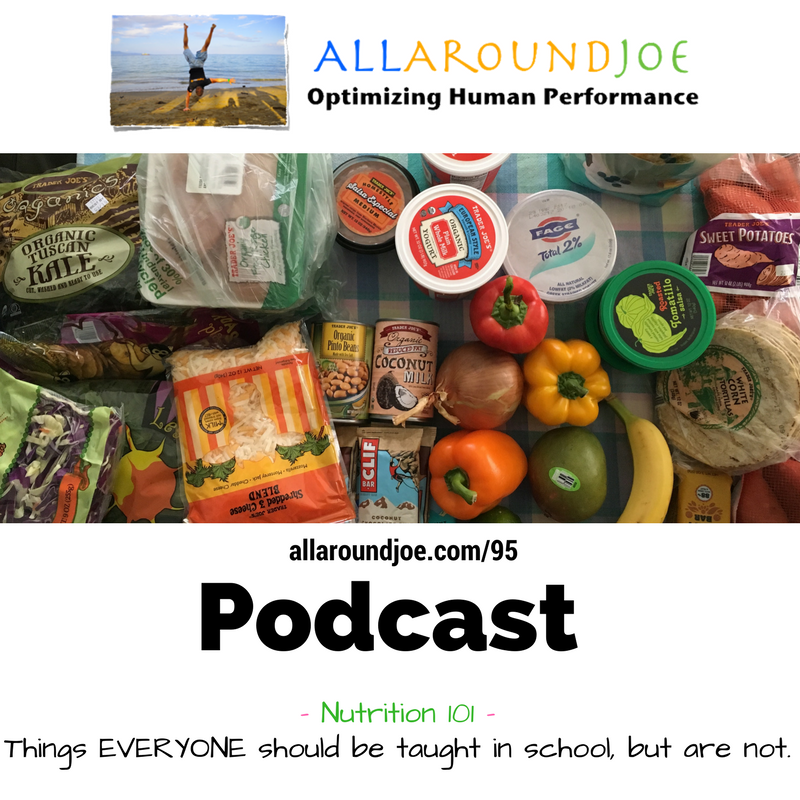 AAJ 095: Nutrition 101 – Things EVERYONE should be taught in school, but are not.