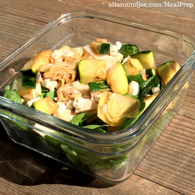 Meal Prep: Super Quick Turkey & Goat Cheese Salad
