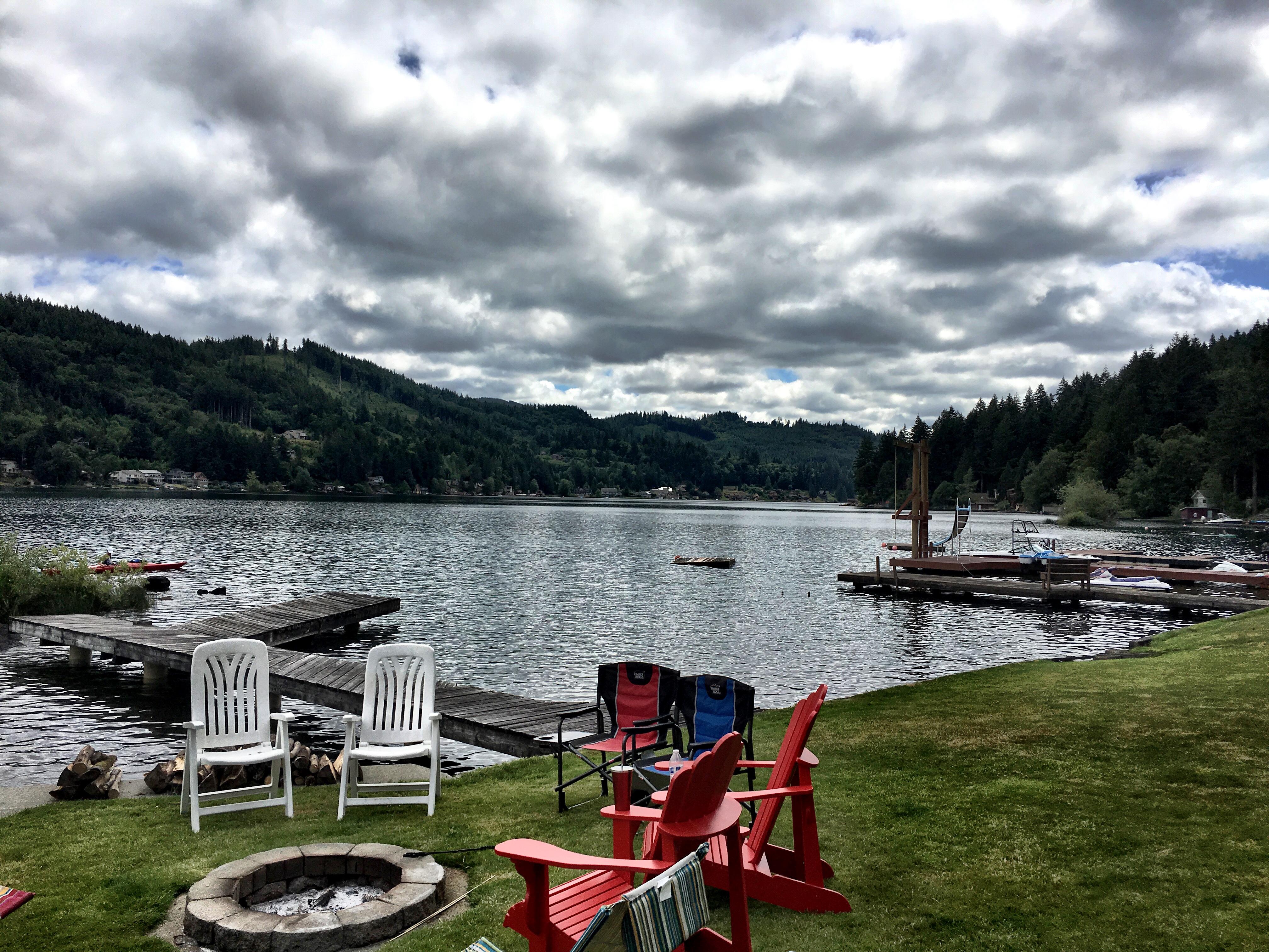 Swim workout at Summit Lake
