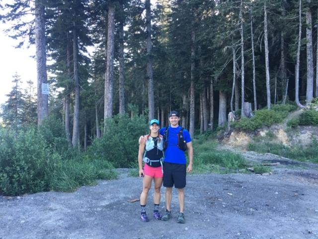 Emily & Joe starting Stevens Pass to Snoqualmie Pass adventure