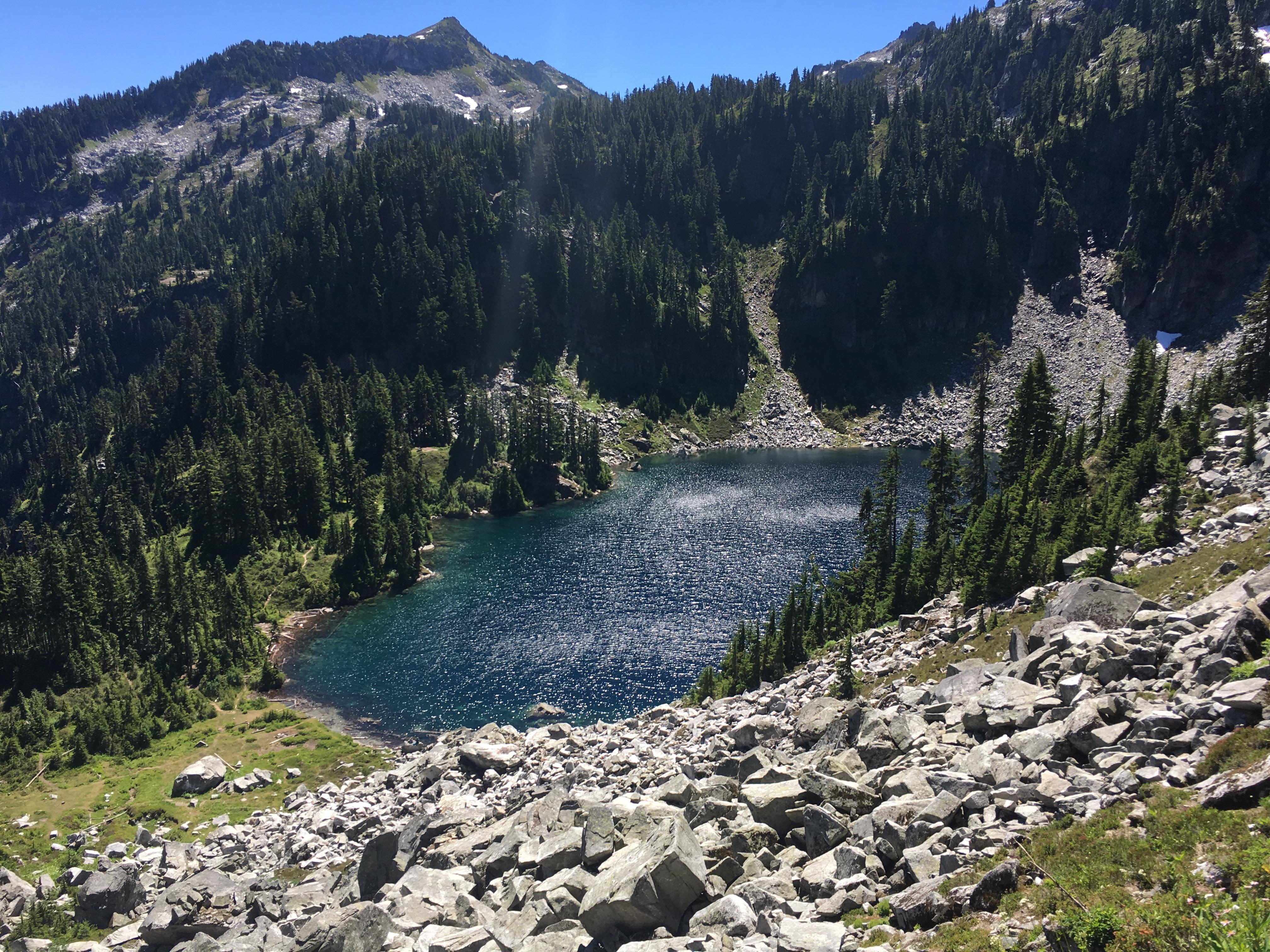 Josephine Lake on Stevens Pass to Snoqualmie Pass adventure
