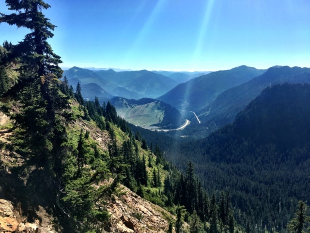 We can see I90 on the Stevens Pass to Snoqualmie Pass trail