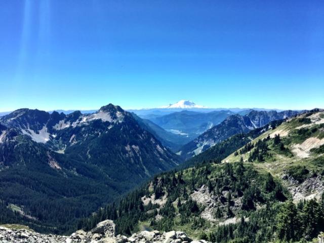 Mount Rainier on Stevens Pass to Snoqualmie Pass adventure