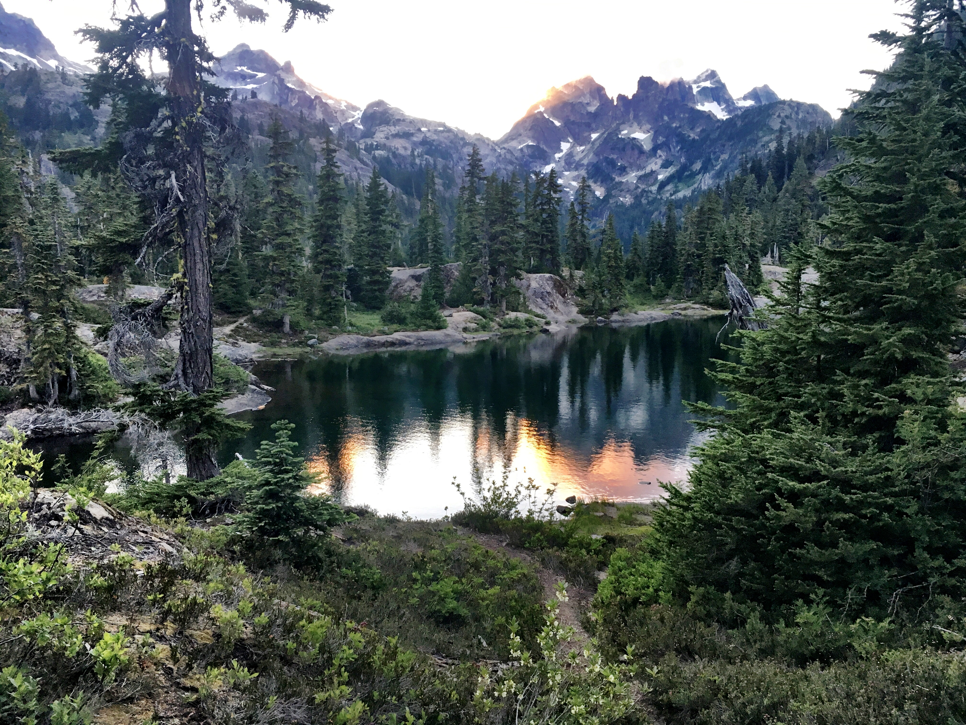 Spectacle Lake Sunset on Stevens Pass to Snoqualmie Pass adventure