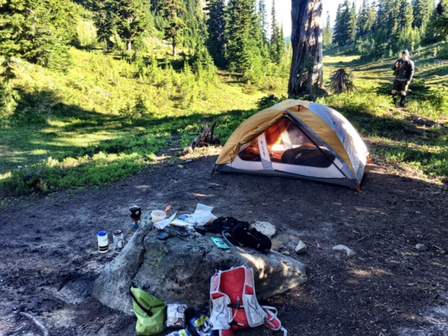 Camp 17 on night 1 of Stevens Pass to Snoqualmie Pass