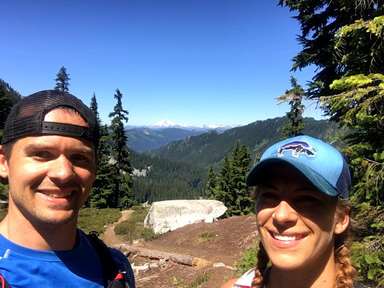 Emily & Joe on Stevens Pass to Snoqualmie Pass adventure