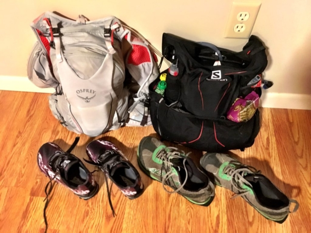 Trail running gear for Stevens Pass to Snoqualmie Pass