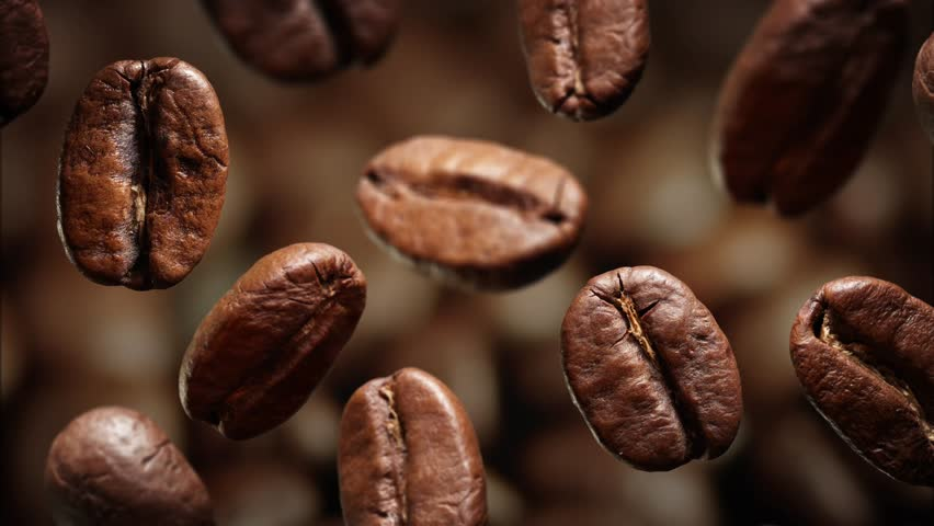 Falling coffee beans picture