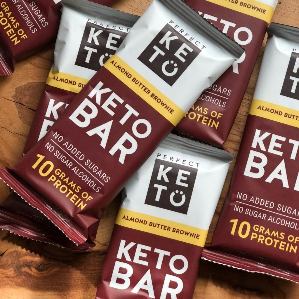 Pile of Perfect Keto bars before they hit the market