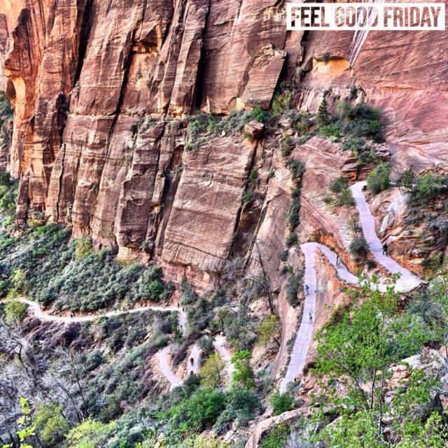 Feel Good Friday - Blue Light Blocking - Angels Landing - Instagram by Joe Bauer