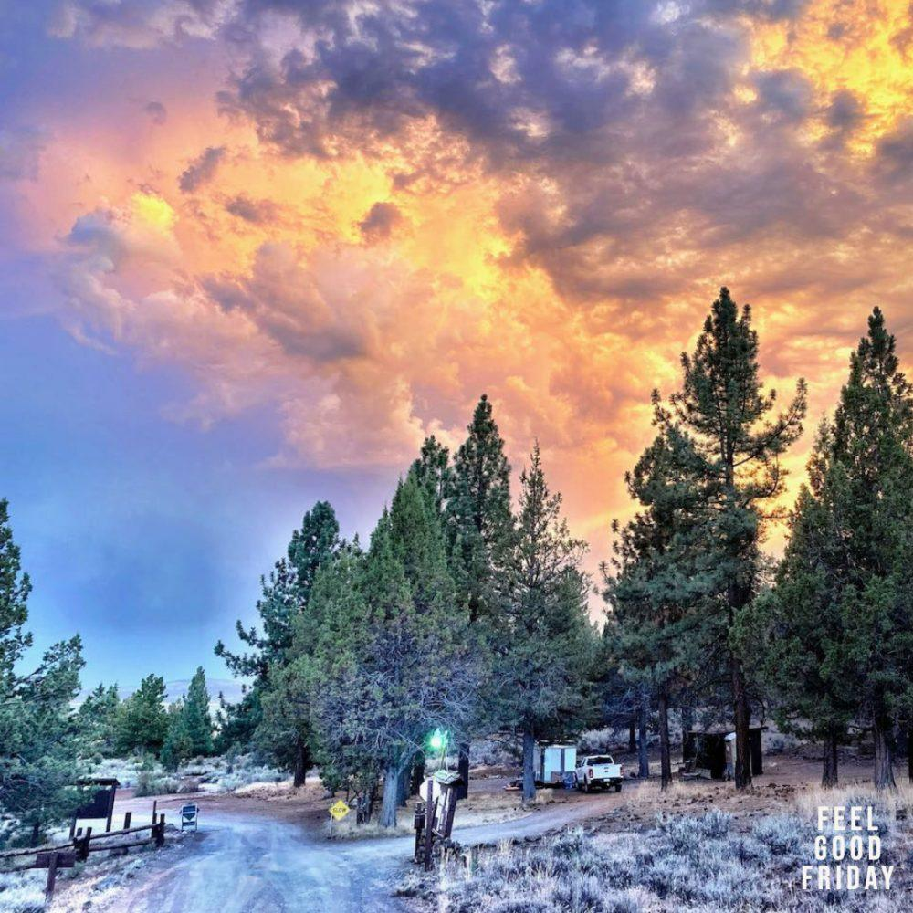 Feel Good Friday - Big Chief - Goblet Side Lunges outside of Susanville sunset at campground